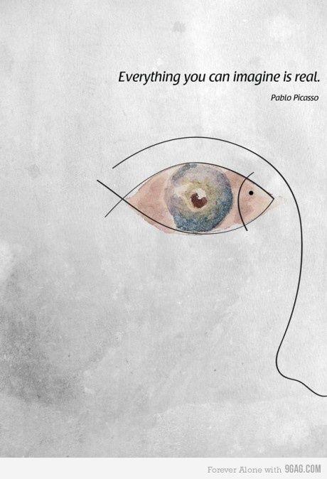 Tutto ciò che riesci ad immaginare, è reale. Pablo Picasso #sogni #edarlingitalia #picasso