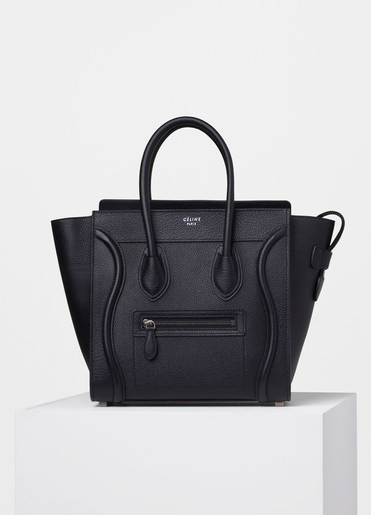 Micro Luggage Handbag in Drummed Calfskin - Spring / Summer Collection 2016 | CÉLINE