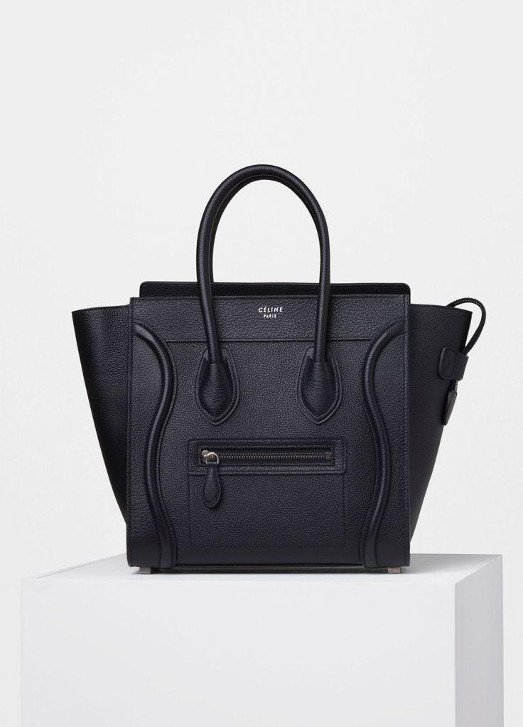 Micro Luggage Handbag in Drummed Calfskin - Spring / Summer Collection 2016 | CÉLINE
