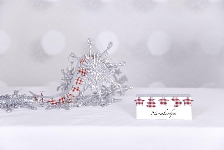 Kerst naambordjes voor een Dessert tafel