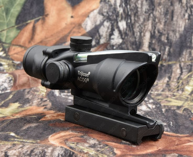 Tactical Trijicon acog style 4x32 Rifle scope red dot sight scope (Green Optical Fiber) RBO M7184