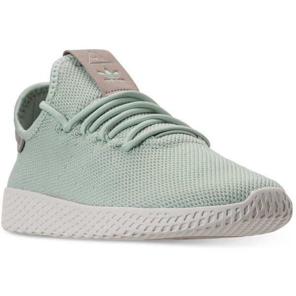 size 40 d1b49 badd1 adidas Womens Originals Pharrell Williams Tennis Hu Casual Sneakers...  (110) ❤ liked on Polyvore featuring shoes, sneakers, ash greesh grey, ...