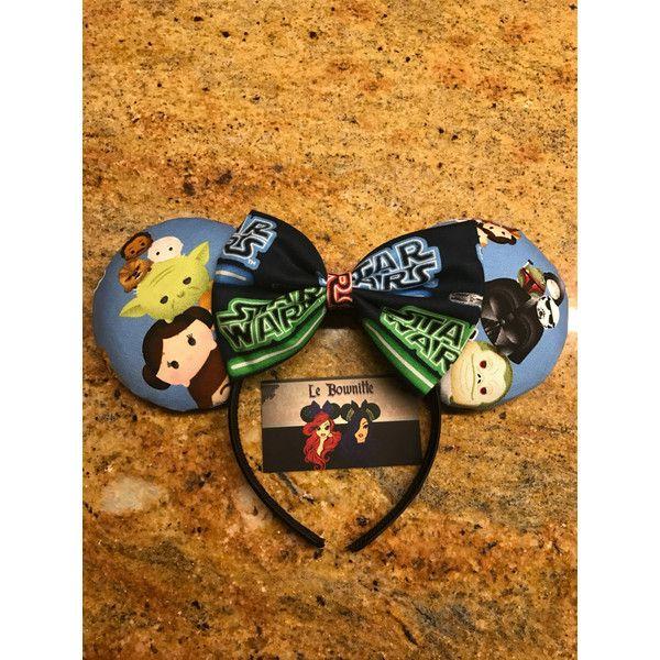 Star Wars Tsum Tsum Ears ($24) ❤ liked on Polyvore featuring accessories, hair accessories, black, headbands & turbans, head wrap turban, headband turban, turban headbands, headwrap turban and headband hair accessories