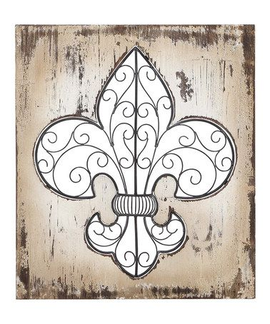 Nice Take A Look At This Wood U0026 Metal Fleur De Lis Wall Décor By Part 22