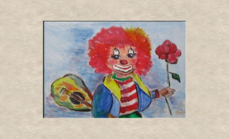Clown met gitaar
