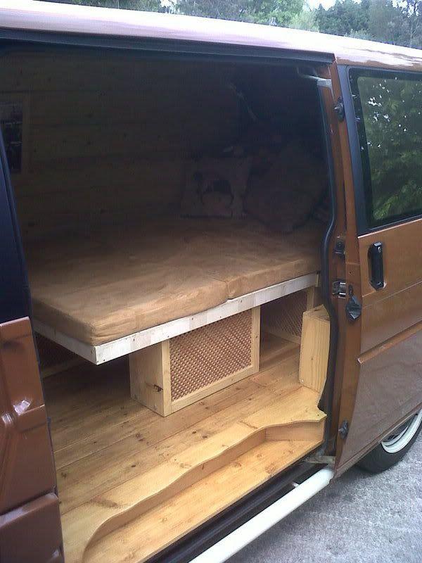 32 best campervan beds images on pinterest vw t5 forum for Vw t4 interior designs