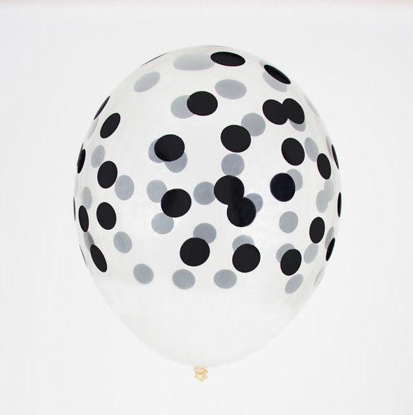 Little Luftballon Konfetti schwarz bei www.party-princess.de