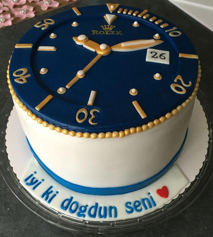 Rolex Cake Clock Cake Rolex Pastasi Torten Sternchen