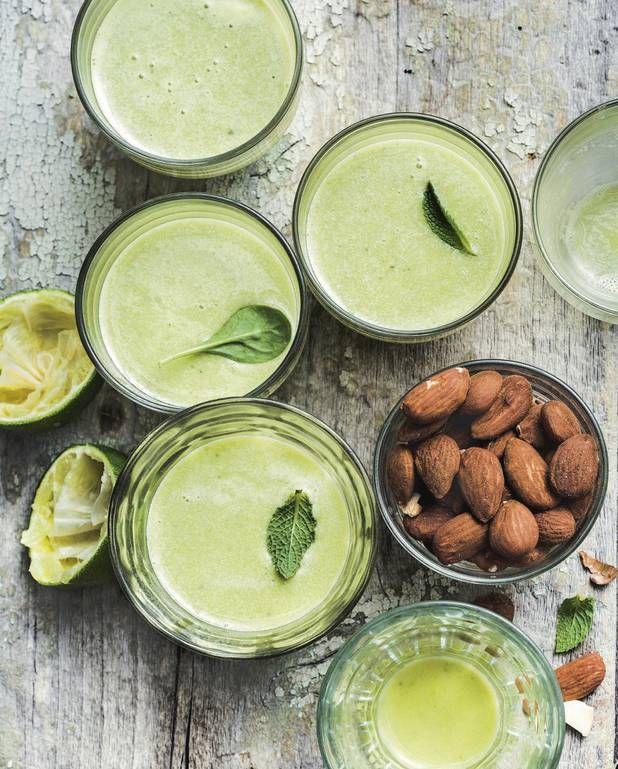 Green smoothie à l'amande pour 4 personnes - Recettes Elle à Table