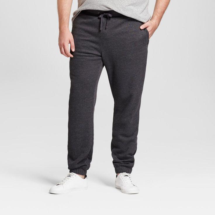 Men's Big & Tall Standard Fit Jogger Pants - Goodfellow & Co Charcoal (Grey) L Tall, Size: LT