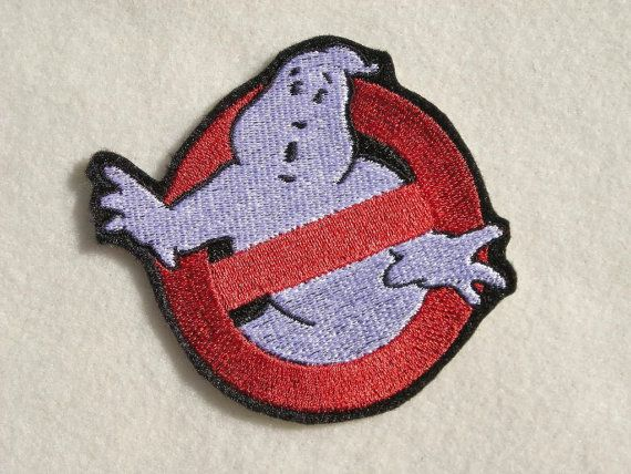 "Ghost Busters, No Ghosts, Iron on Patch, Embroidered Patch, 3.5"" X 3.1"""