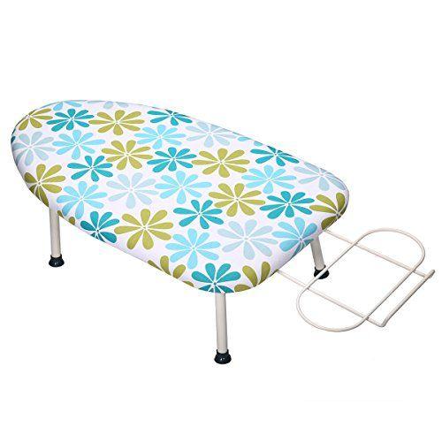 """KINGSO Mini 4-Leg Foldable Tabletop Ironing Board with Iron Rest (24""""x14""""(printing)) - KINGSO Mini 4-Leg Foldable Tabletop Ironing Board with Iron Rest"""