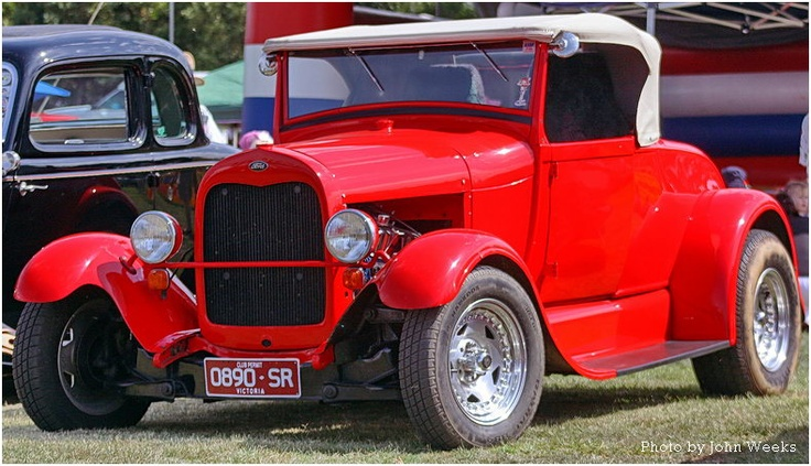 """Red """"A"""" Model Ford Classic Car"""