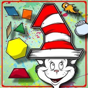 Pattern Block Puzzles - Dr. Seuss / Read Across America!