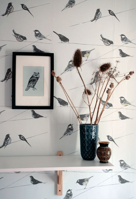 Garden Birds   Exclusive Wall Paper   Louise Body Wallprint
