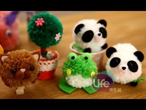 easy crafts: pom pom rabbits - stuffed bunnies DIY - Isa ❤️ - YouTube