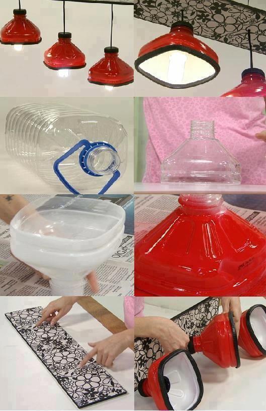 DIY Make Shining Lamps with Plastic Bottles