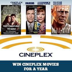 Win Cineplex Movies for a Year