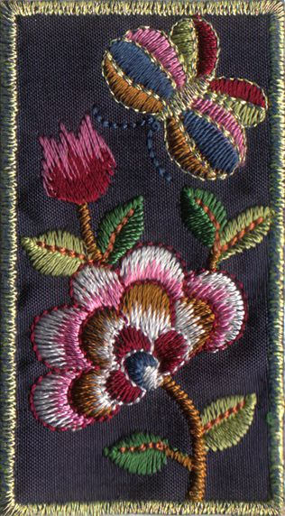 Korean embroidery. Love the colors!