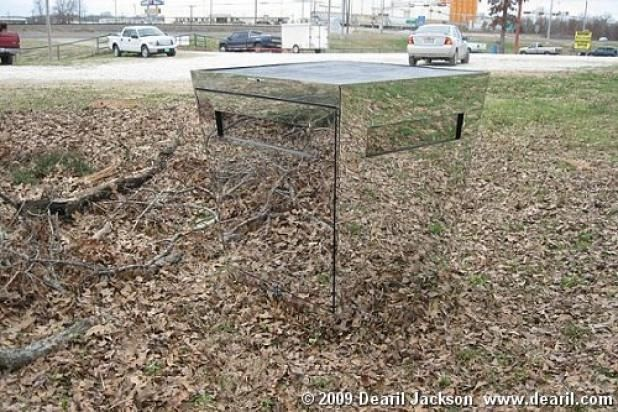 Mirrored Deer Blind - Just remember where you put it!!   lol  Good idea!!