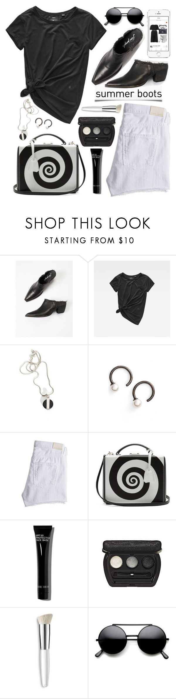 """Walk This Way: Summer Booties"" by rosie305 ❤ liked on Polyvore featuring Free People, Julien David, Mark Cross, Bobbi Brown Cosmetics, Laura Geller, Trish McEvoy and summerbooties"