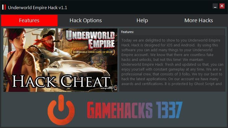 Underworld Empire Hack est vraiment un outil innovant, que nous désirons vous présenter. Si vous regardez jamais à un autre tricheurs en ligne, celui-ci est le plus efficace.