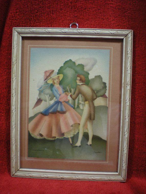 Morris & Bendien  Litho Print of Vintage Couple