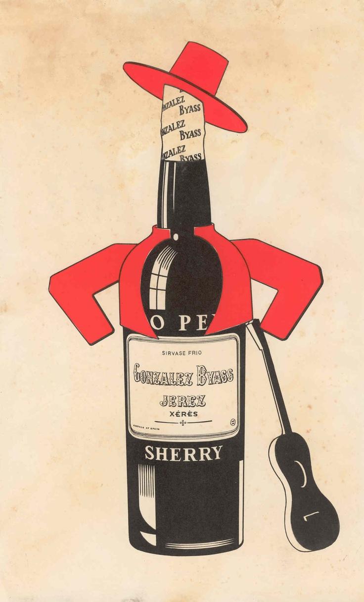 "Sherry ""Tio Pepe"" de González Byass solo. / González Byass ""Tio Pepe"" Sherry solo."