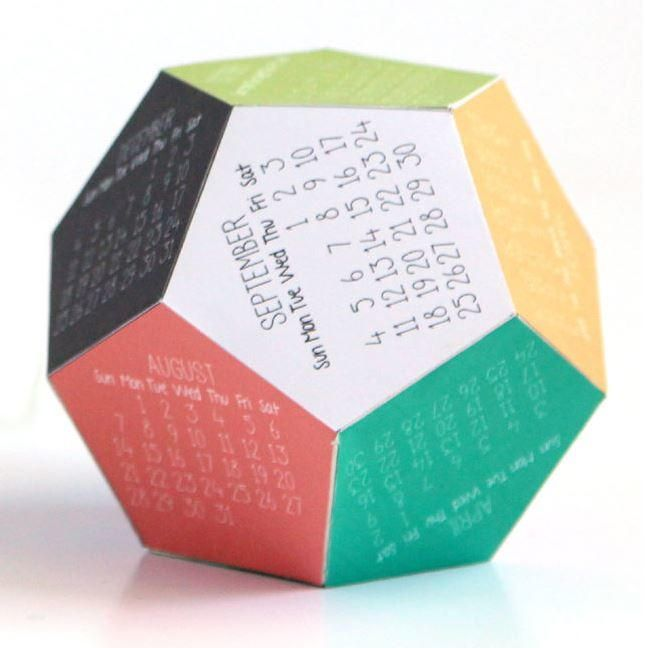 Make Your Own 3D Print Calendar   Make your own DIY calendar with this printable idea.