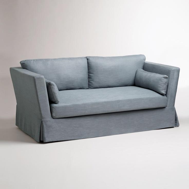 Slate Blue Crosby Sofa Slipcover World Market