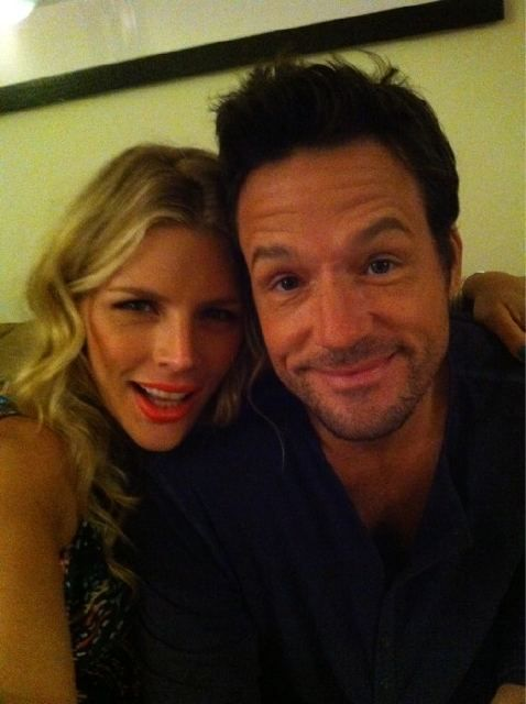 Busy Philipps and Josh Hopkins got to hang out off set.