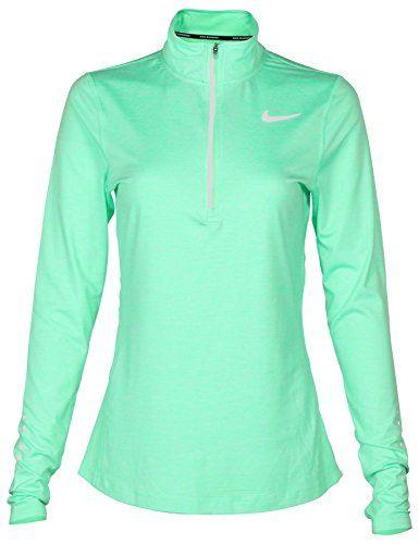 15227f0c6277e Women s Dri-Fit Running 1 2 Zip Shirt Green 904900 300