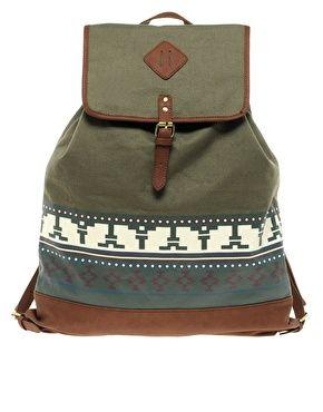 River Island Aztek Backpack