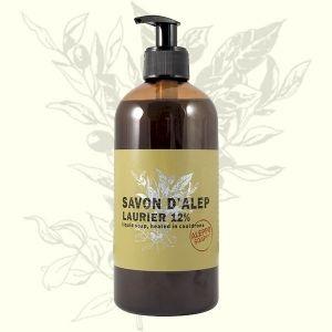 Jabón líquido de Alepo. Higiene corporal diaria y tratante de todo tipo de pieles.