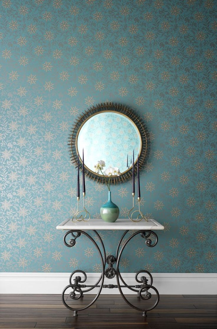 Gorgeous #blue wallpaper by Sophie Conran for Arthouse