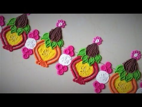 Free Hand Flower Rangoli Designs| Creative Rangoli Designs by Shital Mahajan. - YouTube