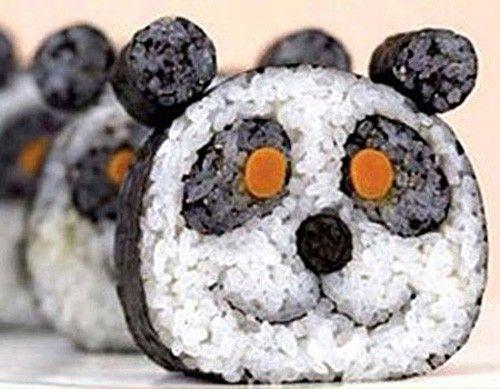 Panda Sushi! Jo... que carita :)  #arte #comida #gastro #gastronomia #sushi #paratorpes #cocina