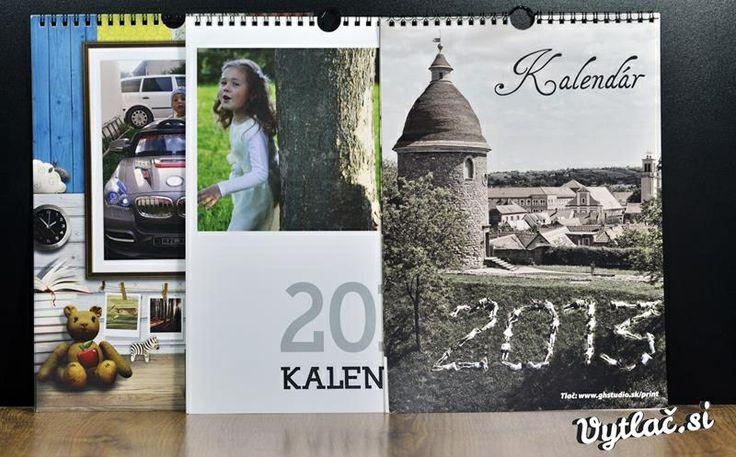 Kalendáre rôznych formátov s vlastnými fotografiami