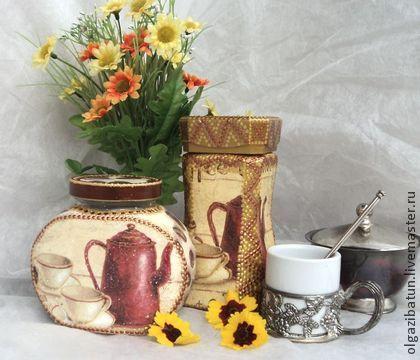 Банка для хранения кофе или чая - банка,банка для сыпучих,банка для хранения