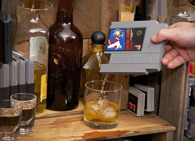 Get nostalgic with your alcoholic adventures with the NES cartridge flask. This geeky yet discrete drinking flask is designed to resemble a retro NES cartridge...