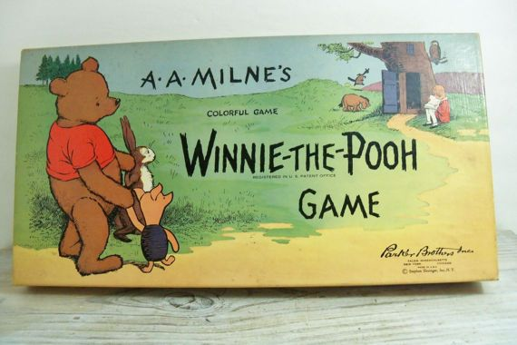 Vintage 1933 Winnie The Pooh Board Game by Parker Brothers Inc