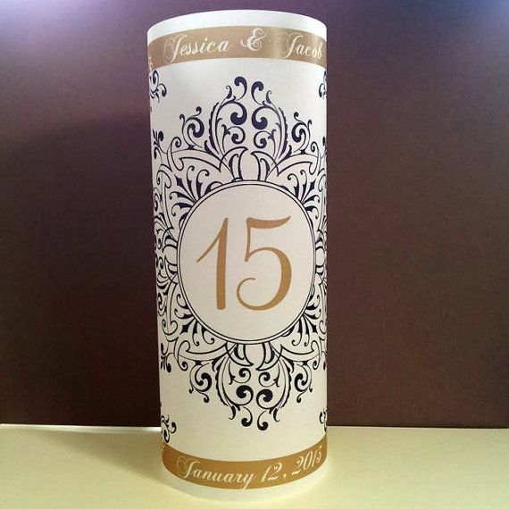 """Vintage Fancy Scrolls Luminary 8.5"""" Candle Surrounds - Formal Wedding Decor - Personalized Design"""