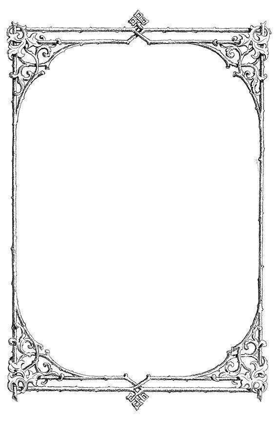 I like this victorian twig border. | Clip art borders ...