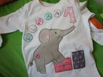 "Geburtstagsshirt  ""Elefant"""