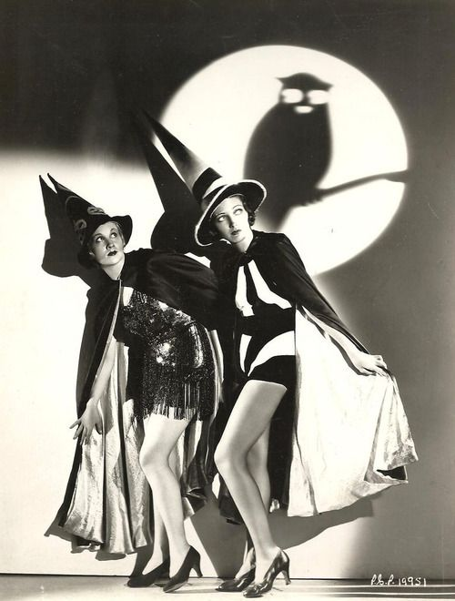 1930's Halloween Pinups - Starlets in Witch Costumes