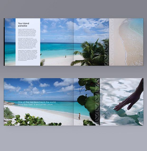 Zemi Beach Caribbean Property| Brochure spreads| Print marketing