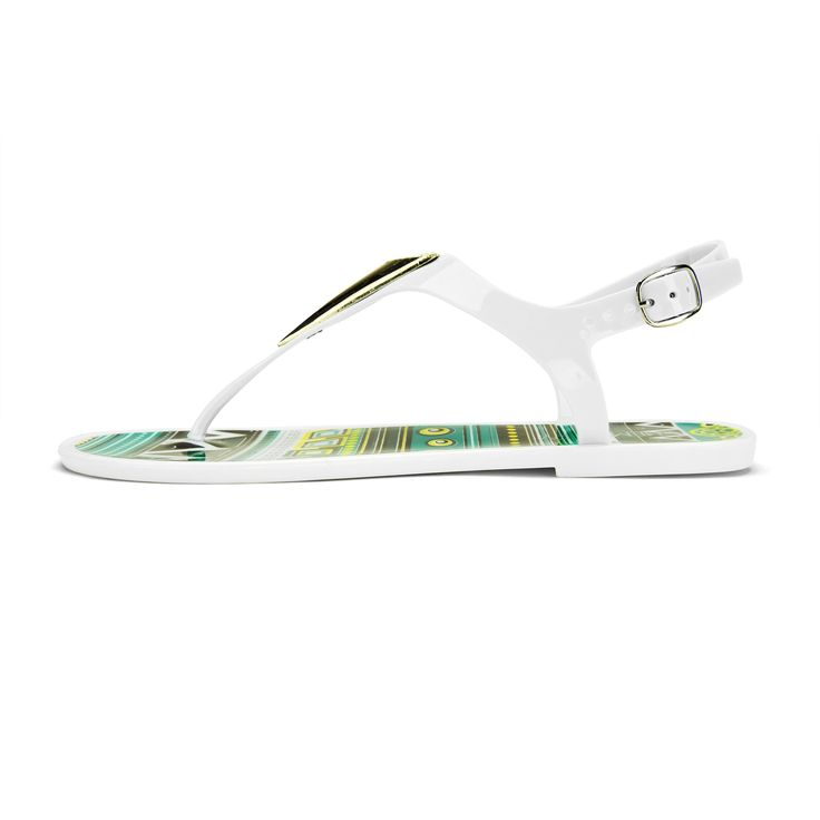 Chemistry® EVA Roman Gladiator Thong Bow Tie Flat Sandals Adjustable Ankle Strap Flip Flops Women Shoes White (6 B(M) US). Material: Jelly PVC (man-made). Padded foot bed for comfort, which is very supportive wearing wearing. The jelly material is also water proof, perfect to wear to beach too. Roman Gladiator style.