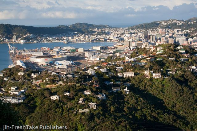 FreshTake Publishers (Photographer Jennifer Hammond): This photo is from our calendar, again it is from #Wellington , #NewZealand. It captures how close together the harbor, the central city, suburban Wellington and the forested area are to each other. All within 10-15 drive.  This photo is taken from suburban #Khandallah.