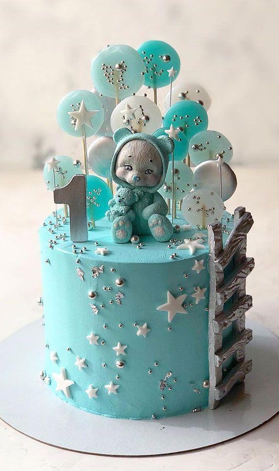 15 The Cutest First Birthday Cake Ideas Everrr Baby Boy Birthday Cake Baby Girl Birthday Cake Baby First Birthday Cake