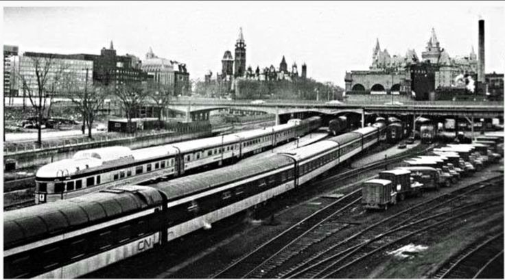 Old train yards at Union Station, 1950's